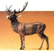 Preiser Standing Stag Elk Model Railroad Figure 1/25 Scale #47700