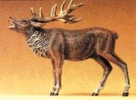 Preiser Bellowing Stag Elk Model Railroad Figure 1/25 Scale #47701