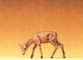 Preiser Small Roe Deer, Feeding Doe with Head Down Model Railroad Figure 1/25 Scale #47705