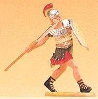 Preiser Roman Soldier Running with Spear Model Railroad Figure 1/25 Scale #50210