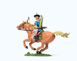Preiser Elastolin Hun Warrior Drawing an Arrow Model Railroad Figure 1/25 Scale #50480