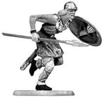 Preiser Norman Soldier Running with Spear & Shield Model Railroad Figure 1/25 Scale #50925