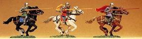 Preiser Norman Soldier Riding with Lance #2 Model Railroad Figure 1/25 Scale #50943