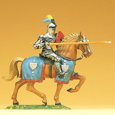 Preiser Knight Riding with Lance Model Railroad Figure 1/25 Scale #52041