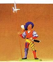 Preiser European Mercenary with Battle Axe Standing Model Railroad Figure 1/25 Scale #52308