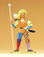 Preiser European Master with Ram Rod Model Railroad Figure 1/25 Scale #52313