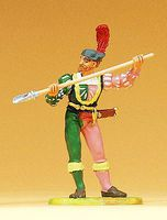 Preiser European Bondsman with Powder Shovel Model Railroad Figure 1/25 Scale #52314