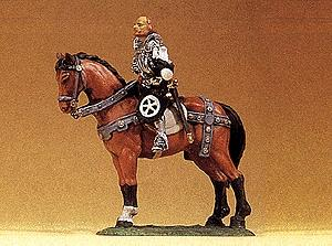 Preiser European Gotz Of Berlichingen On Horseback Model Railroad Figure 1/25 Scale #52350