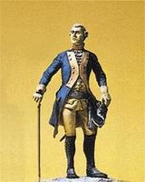 Preiser Prussian Army Circa 1756 7th Infantry Officer Model Railroad Figures 1/24 Scale #54115