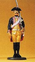 Preiser Prussian Army Musketeer with Musket On Shoulder Model Railroad Figure 1/24 Scale #54119