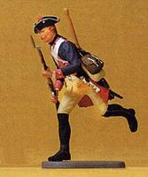 Preiser Prussian Army Musketeer Running Model Railroad Figure 1/24 Scale #54136