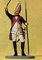 Preiser Prussian Army Noncommissioned Officer of Grenadiers Model Railroad Figure 1/24 Scale #54151