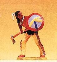Preiser Native Americans Carrying Shield & Tomahawk Model Railroad Figure 1/25 Scale #54610
