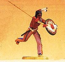 Preiser Indian Warrior Running 1/25 Scale Model Railroad Figure #54611