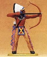 Preiser Native American Standing Chief Shooting Bow Model Railroad Figure 1/25 Scale #54613