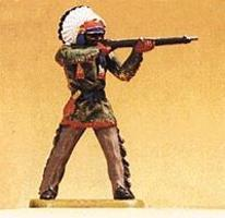 Preiser Native American Standing Chief Firing Rifle Model Railroad Figure 1/25 Scale #54623