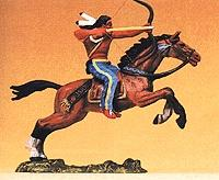 Preiser Mounted Indian Warrior Shooting Bow Forward Model Railroad Figure 1/25 Scale #54654