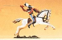 Preiser Mounted Indian Warrior Throwing Spear Model Railroad Figure 1/25 Scale #54658