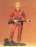 Preiser Frontiersman Old Shatterhand with Rifle Model Railroad Figure 1/25 Scale #54950