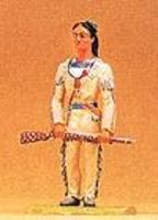 Preiser Winnetou Holding Decorated Rifle Model Railroad Figure 1/25 Scale #54961