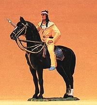 Preiser Winnetou Mounted with Rifle Model Railroad Figure 1/25 Scale #54964
