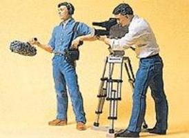 Preiser Film Crew Model Railroad Figures G Scale #57104