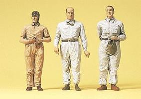 Preiser Early Motor Racing Drivers Model Railroad Figures 1/24 Scale #57108