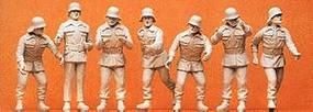 Preiser German Firefighters Working Model Railroad Figures 1/24 Scale #57806