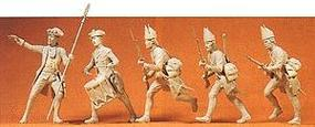 Preiser Prussian Advancing Infantry with Officer & Drummer Model Railroad Figures 1/24 Scale #57810