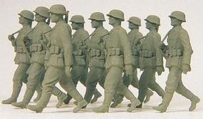 Preiser German Army WWII Grenadiers Marching in Step Model Railroad Figures 1/35 Scale #64009