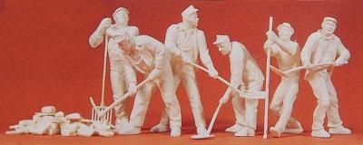 Preiser Kg Workers 1939-45 -- Model Railroad Figures -- 1/35 Scale -- #64010
