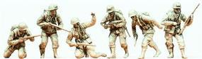 Preiser Unpainted US Airborne Troops Figure Kit D-Day 1944 (6) 1/35 Scale Model Figures #64018