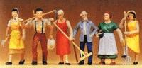 Preiser Farm Workers Model Railroad Figures O Scale #65307