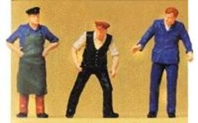 Preiser Delivery Men Model Railroad Figures O Scale #65311