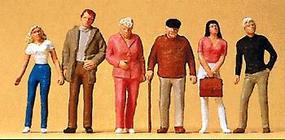 Preiser Passers-By Standing Model Railroad Figures O Scale #65320