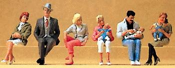 Preiser People Seated Model Railroad Figures O Scale #65327