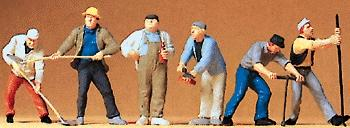 Preiser Construction Workers Model Railroad Figures O Scale #65331