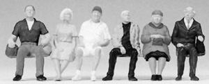 Preiser Seated Passengers Model Railroad Figures O Scale #65338