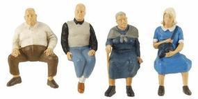 Preiser Seated Travelers #2 Model Railroad Figures O Scale #65351