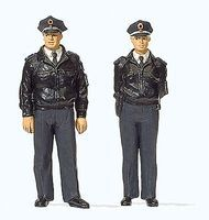Preiser Officers in Blue Federal Republic of Germany Model Railroad Figures 1/45 Scale #65364