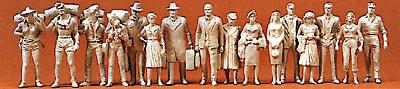 Preiser Passengers/Travelers Model Railroad Figures O Scale #65600