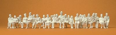 Preiser Unpainted Seated Passengers Model Railroad Figures O Scale #65602