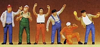 Preiser Truckers Standing Model Railroad Figures 1/50 Scale #68202