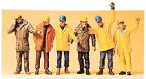 Preiser Modern Workmen with Outdoor Clothing Model Railroad Figures 1/50 Scale #68214