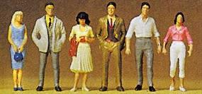 Preiser Standing People Model Railroad Figures 1/72 Scale #72400