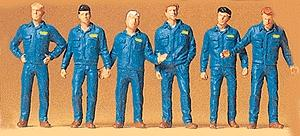 Preiser Kg Mechanics In Coveralls -- Model Railroad Figures -- 1/72 Scale -- #72406