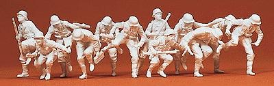 Preiser German Army WWII Armored Infantry Dismounting Model Railroad Figures 1/72 Scale #72501