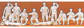 Preiser German Army WWII Infantry Resting Model Railroad Figures 1/72 Scale #72505
