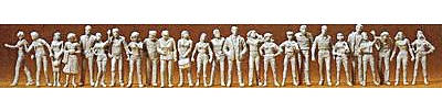 Preiser People Standing and Walking Model Railroad Figures 1/72 Scale #72512
