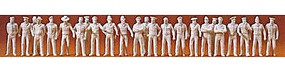 Preiser People In Uniform Model Railroad Figures 1/72 Scale #72513